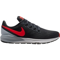Nike Mens Air Zoom Structure 22 - Grey/Crimson
