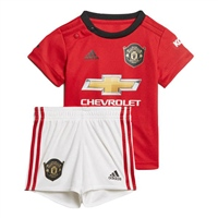 Adidas Manchester United Baby Home Kit 19/20 - Red/White