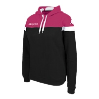 Kappa Accia Womens Hoodie - Black/Fuchsia/White