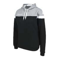 Kappa Accia Womens Hoodie - Black/Grey Mel/White
