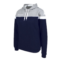 Kappa Accia Womens Hoodie - Blue Marine/Grey Mel/White
