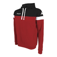 Kappa Accio Pullover Hoodie - Red/Black/White