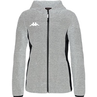 Kappa Marzama Womens Tech Jacket - Grey Md Mel/Black