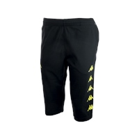 Kappa Bardino Long Short - Black/Fluo Yellow - (MIN. QTY 6)
