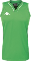 Kappa Caira Womens Basketball Shirt - Green/White