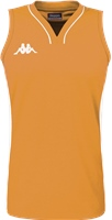 Kappa Caira Womens Basketball Shirt - Orange/Black