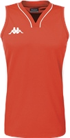 Kappa Caira Womens Basketball Shirt - Red/White