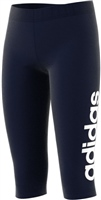 Adidas Girls Essentials Linear 3/4 Leggings - Navy/White