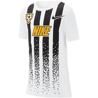 Nike Boys NSW Soccer Jersey T-Shirt - White/Black