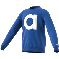 Adidas Boys Performance Brand Crew Sweatshirt - Royal/White