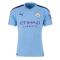 Puma Manchester City Home Jersey 19/20 - Sky/Purple