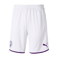 Puma Manchester City Home Shorts 19/20 - Kids - White/Purple