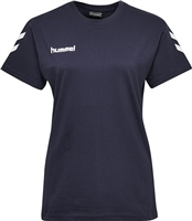 Hummel GO COTTON T-SHIRT WOMAN S/S - MARINE