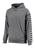 Hummel AUTHENTIC CHARGE POLY HOODIE - DARK GREY MELANGE