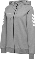 Hummel GO COTTON ZIP HOODIE WOMAN - GREY MELANGE