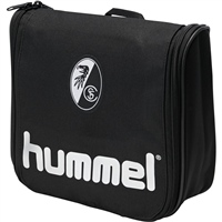 Hummel AUTHENTIC TOILETRY BAG - KIDS - BLACK/SILVER