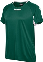 Hummel CORE TEAM JERSEY WOMAN S/S - EVERGREEN