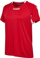 Hummel CORE TEAM JERSEY WOMAN S/S - TRUE RED