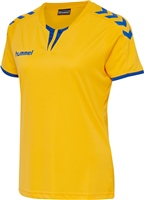 Hummel CORE WOMENS SS JERSEY - SPORTS YELLOW/TRUE BLUE