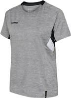 Hummel TECH MOVE JERSEY WOMAN S/S - GREY MELANGE