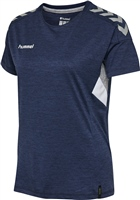 Hummel TECH MOVE JERSEY WOMAN S/S - MARINE MELANGE