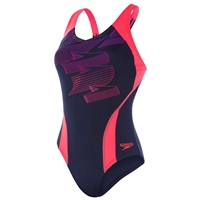Speedo Boom Placement Racerback - Navy/Pink