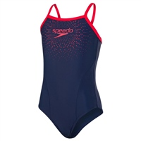 Speedo Gala Logo TSRP MSBK Swimsuit - Navy/Red