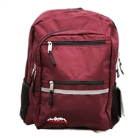 Ridge 53 Campus Backpack - Burgundy/Black