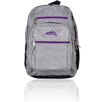 Ridge 53 College Backpack - Grey/Purple