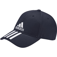 Adidas 6P 3 Stripe Cap - Navy/White