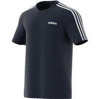 Adidas Essential 3 Stripe Tee - Navy/White