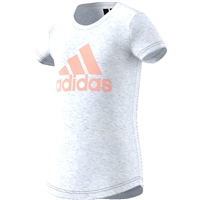 Adidas Girls ID Winner Logo Tee - White/Pink