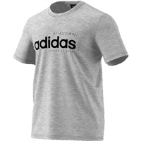 Adidas Mens BB Logo Tee - Grey/Black