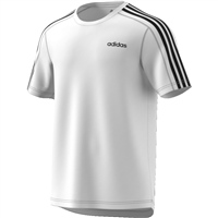 Adidas Mens D2M 3S T-Shirt - White