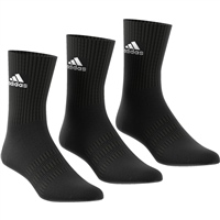 Adidas Cushion Crew Sock (3pk) - Black