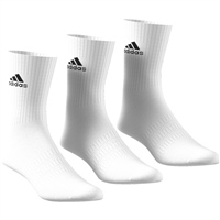Adidas Cushion Crew Sock (3pk) - White