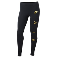 Nike Girls Nike AIR 1 Tight - Black/Gold