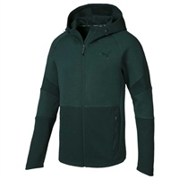 Puma Men Evostripe Hooded Track Top - Pine Green