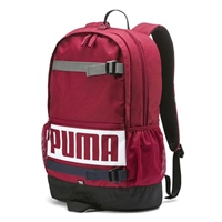 Puma Deck Backpack F7 - Maroon/White