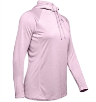 Under Armour Womens Amour Tech LS Hoodie 2.0 - Rose/Heather