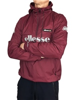Ellesse Mens Berto O/Head Jacket - Burgundy