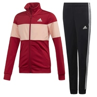 Adidas Girls PES Tracksuit - Red/Pink/Black