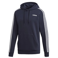 Adidas Mens Ess. Pullover Fleece Hoodie - Navy/White