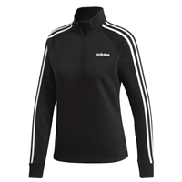 Adidas Womens Ess. 1/4 Zip Track Top - Black/White