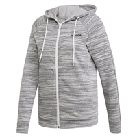 Adidas Womens XPR Full Zip Hoodie - Marl.Grey/Black