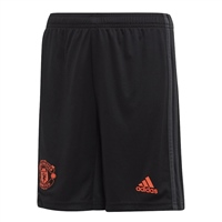 Adidas Manchester United 3rd Shorts 19/20 - Kids - Black