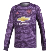 Adidas Manchester United Home GK Jersey 19/20 - Ki - Purple