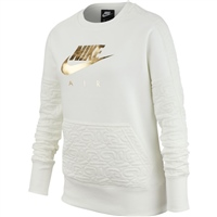 Nike Girls Air Fleece Top - White/Gold