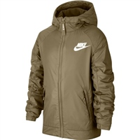 Nike Boys Full Zip Fleece Lined Jacket - Olive