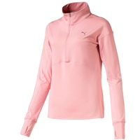 Puma Womens Ignite 1/4 Zip Top - Bridal Rose